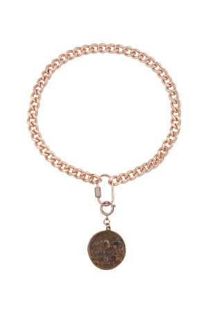 PLAYGROUND - HERITAGE - Kalın Zincirli Madalyon Kolye (1)