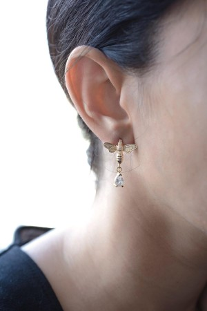 SHOW TIME - HONEY BEE - CZ Earrings (1)