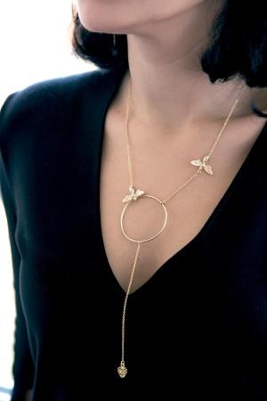 PLAYGROUND - HONEY BEE - Lariat Necklace (1)