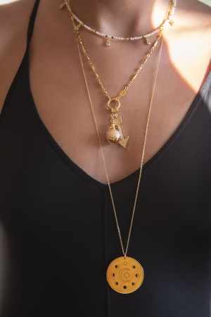 COMFORT ZONE - HOOP BARLEY - Chain Necklace (1)