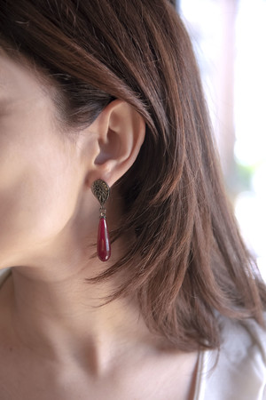 SHOW TIME - IN RED - Red Drop Earrings (1)