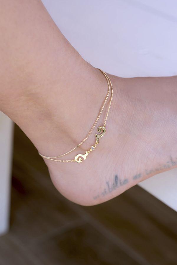 INDIA - Layered Ankle Bracelet