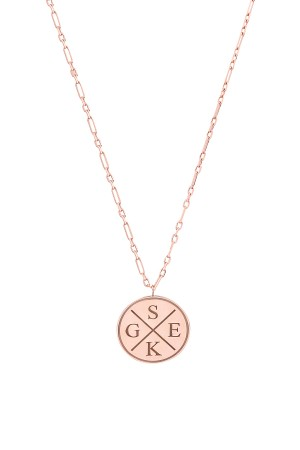 PETITE JEWELRY - INITIALS TOGETHER - Family Initials Necklace