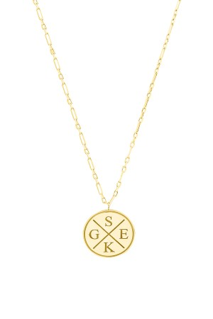 PETITE JEWELRY - INITIALS TOGETHER - Family Initials Necklace (1)