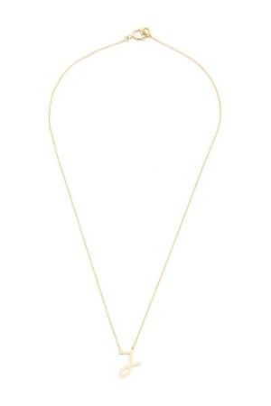 PETITE JEWELRY - J - Upper Case Initial Necklace