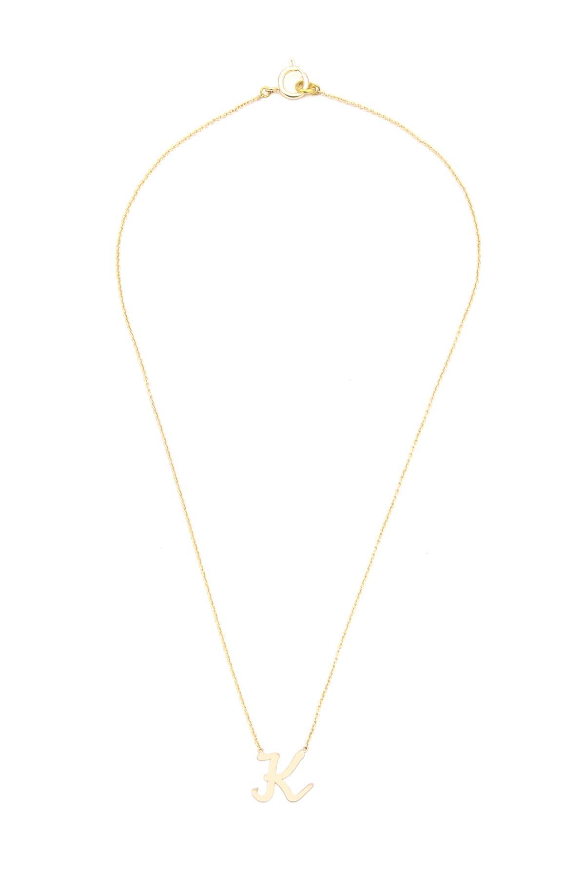 2e94c6da956af3 K - Handwritten Script Initial Necklace - Upper Case -K- Initial ...