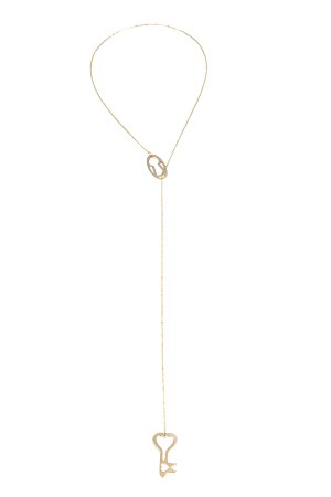 COMFORT ZONE - KEY AND KEYHOLE - Lariat Necklace