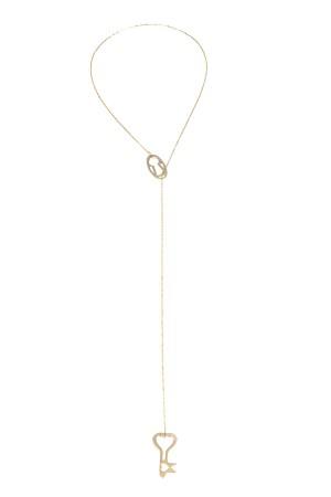 PLAYGROUND - KEY AND KEYHOLE - Lariat Necklace