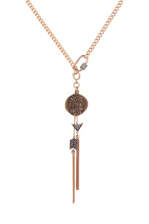 SHOW TIME - KNIGHT - Vintage Görünümlü Madalyon Kolye (1)