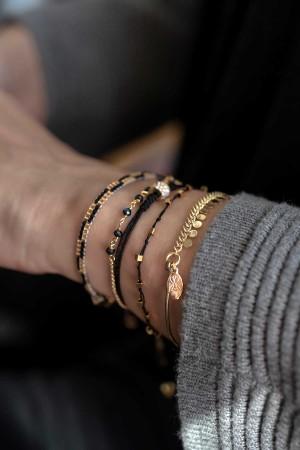 COMFORT ZONE - KNOTS - BLACK - Hand Braided Bracelet (1)