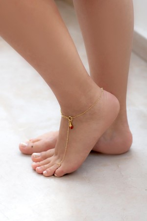 BAZAAR - LADY BUG - Foot Chain (1)