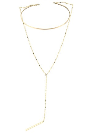 BAZAAR - LARIAT - Two Layered Necklace