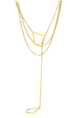 COMFORT ZONE - LAYERED GEOMETRY - Y Necklace