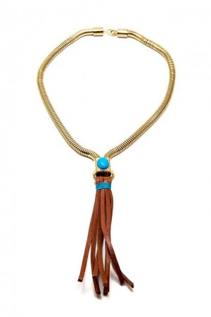 BAZAAR - LEATHER TASSEL - Deri Kolye