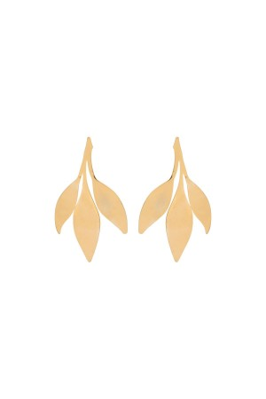 SHOW TIME - LEAVES - Gold Statement Studs