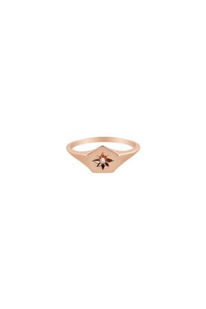 LEON - 14K Altın Küçük Parmak Yüzük - Thumbnail