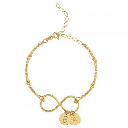 PETITE JEWELRY - LETTERS TO ETERNITY - Personalized Letter Bracelet (1)