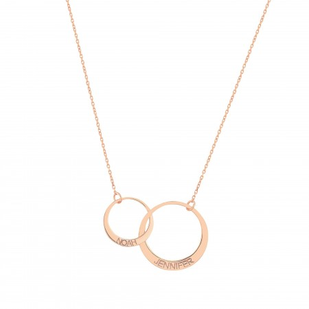 PETITE JEWELRY - LIFE CIRCLE - Personalized Linked Circle Necklace