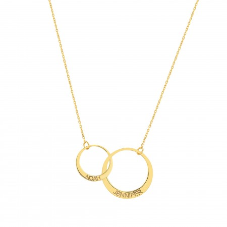 PETITE JEWELRY - LIFE CIRCLE - Personalized Linked Circle Necklace (1)
