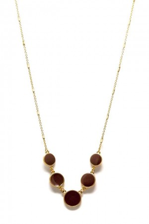 COMFORT ZONE - LIGHT BROWN - Enamel Necklace