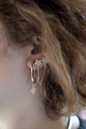 PLAYGROUND - LINKED STARS - Twin Earrings
