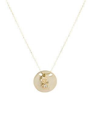 PETITE FAMILY - LOLA BOARD - Personalized Medallion Necklace