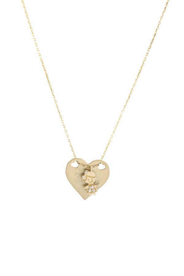 LOLA HEART - Kalp Madalyon Kolye