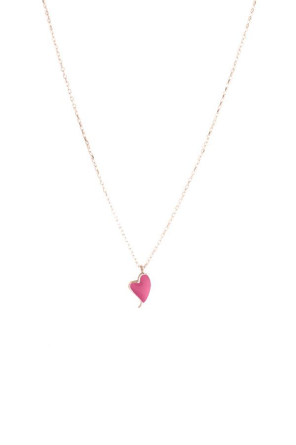 LOLA HEARTBEAT - Pembe Kalp Kolye