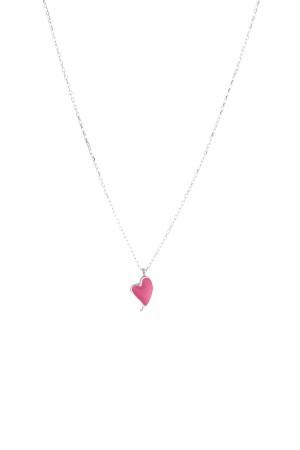 LOLA HEARTBEAT - Pembe Kalp Kolye - Thumbnail