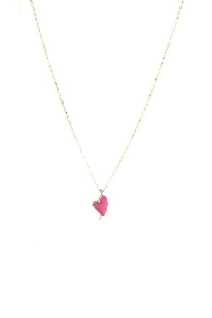 PETITE FAMILY - LOLA HEARTBEAT - Pink Pendant Necklace