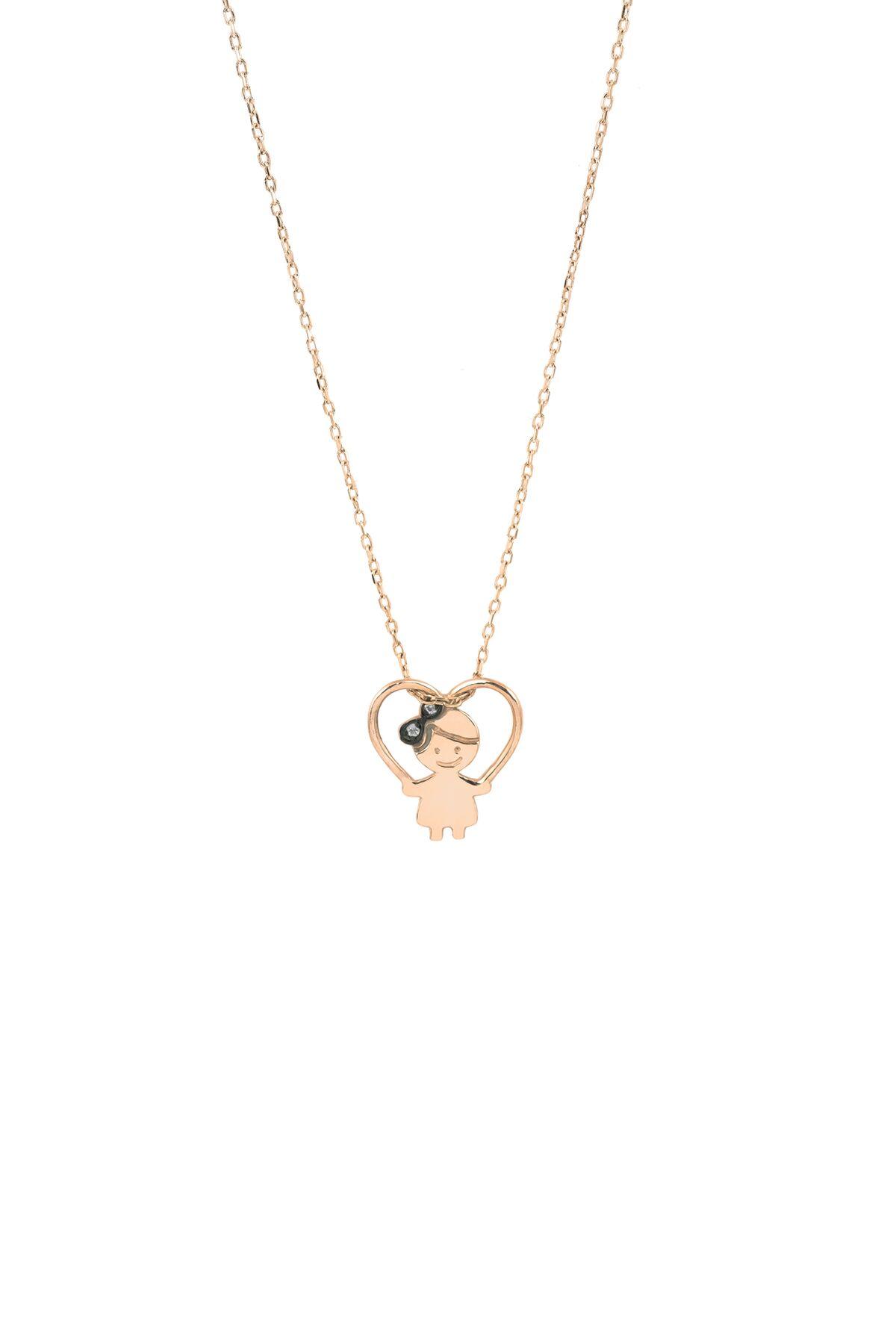 Lola In Love Girl Heart Necklace