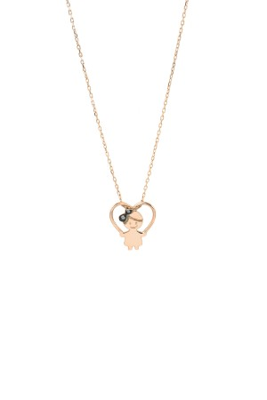 PETITE FAMILY - LOLA IN LOVE - Girl Heart Necklace (1)