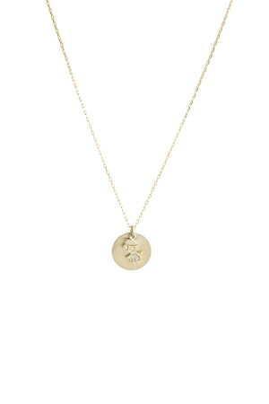 PETITE FAMILY - LOLA MINI - Personalized Mini Disc Necklace