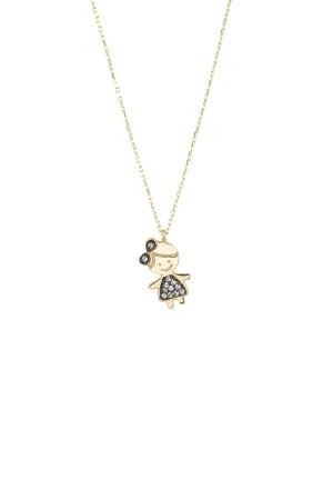 PETITE FAMILY - LOLA PRINCESS - Girl Pendant Necklace with CZ