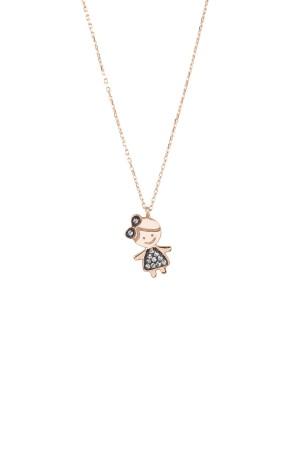 PETITE FAMILY - LOLA PRINCESS - Girl Pendant Necklace with CZ (1)