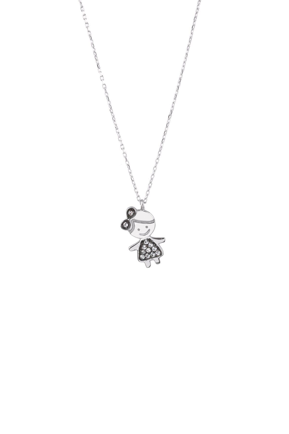 Lola Princess Girl Pendant Necklace