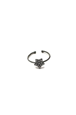 BAZAAR - LONELY STAR BLACK - Adjustable Ring