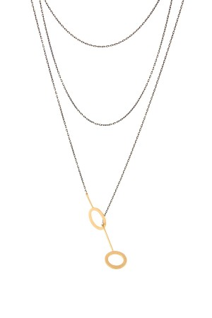 COMFORT ZONE - LONG AND LAYERED - Multilayered Y Necklace