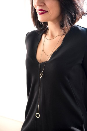 COMFORT ZONE - LONG AND LAYERED - Multilayered Y Necklace (1)