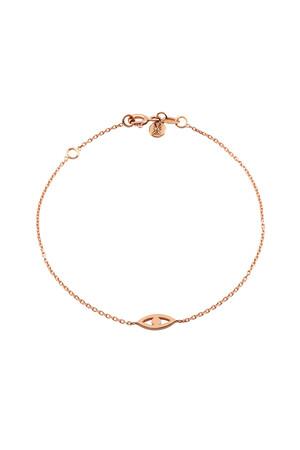 PETITE LUXE - LOOK - 14K Solid Gold Eye Bracelet