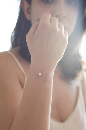PETITE LUXE - LOOK - 14K Solid Gold Eye Bracelet (1)