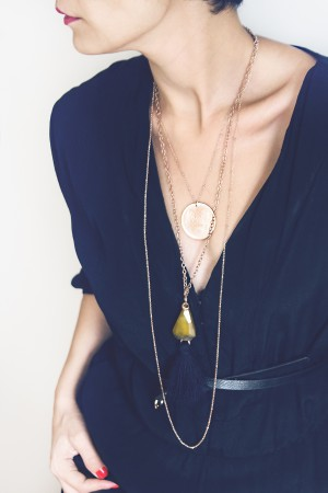 COMFORT ZONE - LOTUS TASSEL - Multilayered Necklace (1)