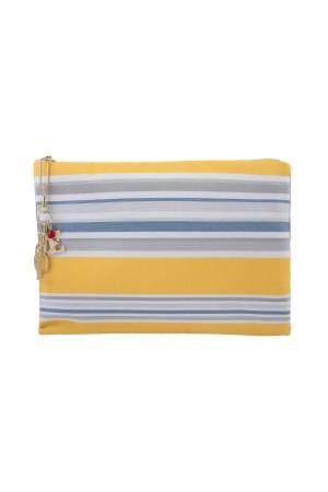 HAPPY SEASONS - LOVE DENIM BAG - Clutch Bag