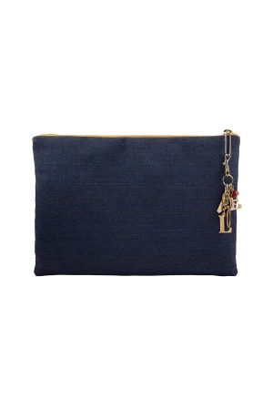 HAPPY SEASONS - LOVE DENIM BAG - Clutch Bag (1)