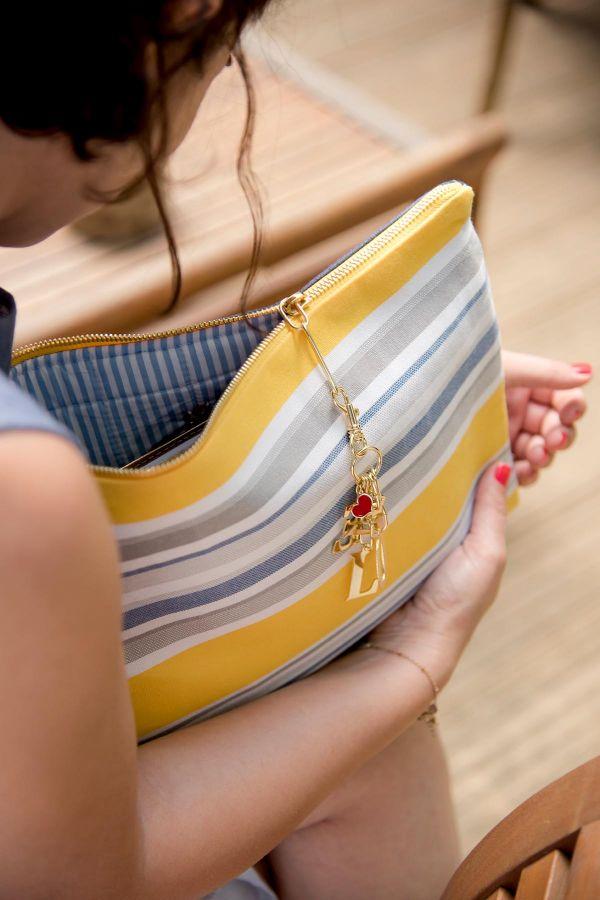 LOVE DENIM BAG - Clutch Bag