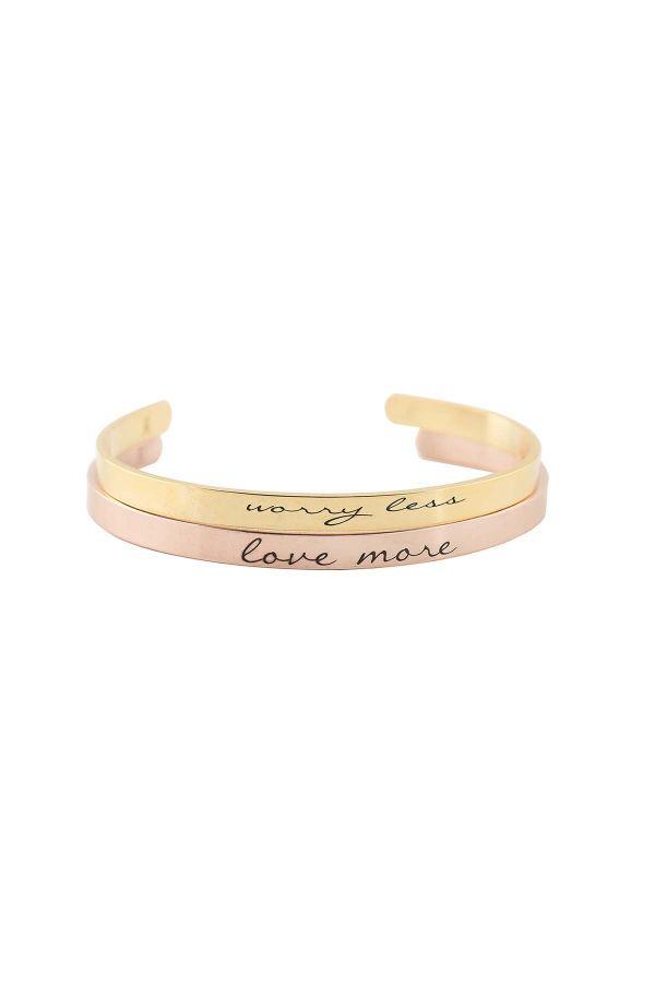 LOVE MORE - Motto Yazılı Bileklik