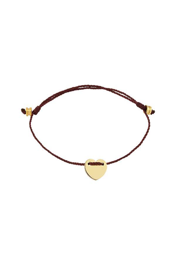 LOVEFUL - BURGUNDY - Dainty Heart Bracelet