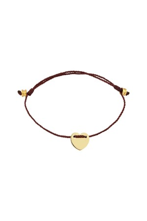 PETITE JEWELRY - LOVEFUL - BURGUNDY - Kalp Madalyon Bileklik