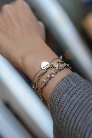 PETITE JEWELRY - LOVEFUL - GRAY - Dainty Heart Bracelet (1)