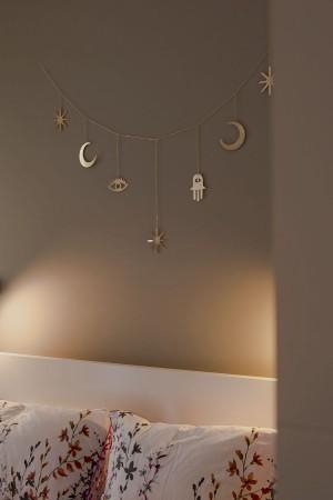 MAGIC SKY - Moon and Star Detailed Wall Hanging - Thumbnail